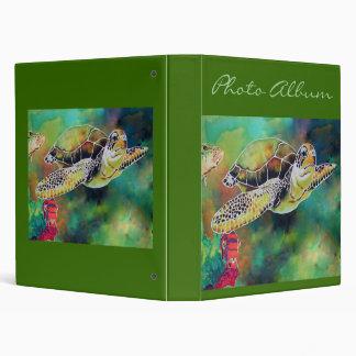 Green Sea Turtle Photo Album Notebook 3 Ring Binder