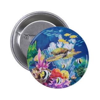 Green Sea Turtle Pinback Button