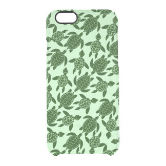 Green Sea Turtle Pretty Animal Pattern Uncommon Clearly™ Deflector iPhone 6 Case