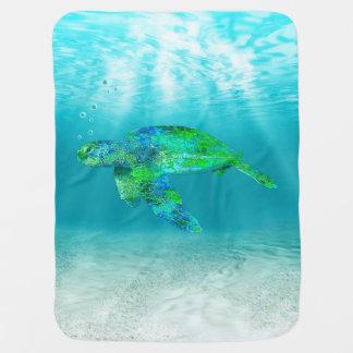 Green Sea Turtle Receiving Blanket