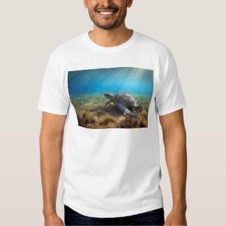 Green sea turtle relaxing underwater t-shirt