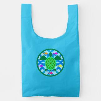 Green Sea Turtle Reusable Bag