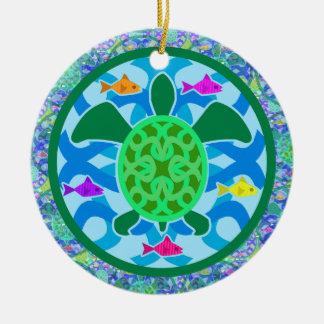 Green Sea Turtle Round Ornament