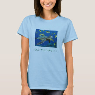 Green Sea Turtle, Save the Turtles T-Shirt