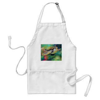 Green Sea Turtle Silk Painting Adult Apron