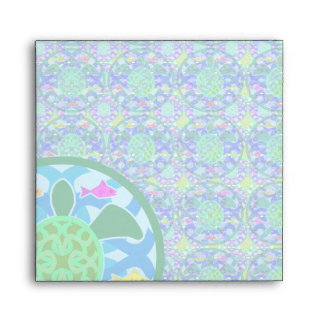 Green Sea Turtle Square Envelope