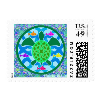 Green Sea Turtle Stamps