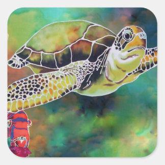 Green Sea Turtle Stickers
