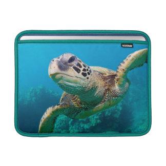 Green Sea Turtle Swimming Over Coral Reef |Hawaii MacBook Sleeves