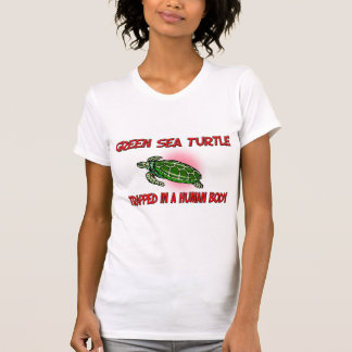Green Sea Turtle trapped in a human body Tshirts