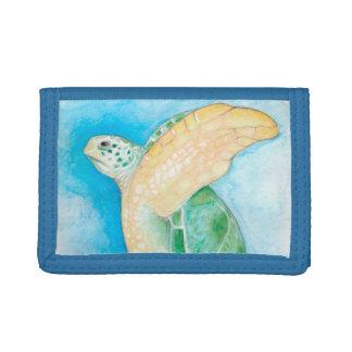 Green Sea Turtle Trifold Wallet