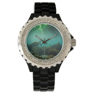 Green sea turtle underwater Galapagos Islands Wristwatches