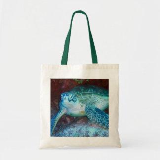 Green Sea Turtle Underwater Tote Bag