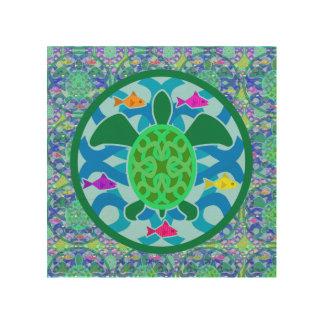 Green Sea Turtle Wood Wall Art