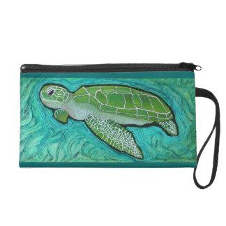 Green Sea Turtle Wrist Bag