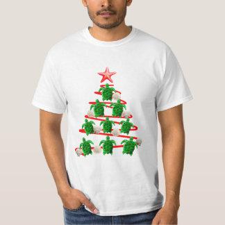 Green Sea Turtles Christmas Tree T-Shirt