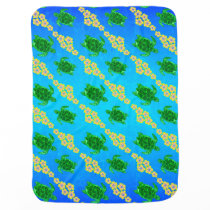 Green Sea Turtles Swaddle Blanket