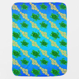 Green Sea Turtles Swaddle Blanket