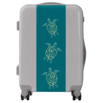Green Sea Turtles Tribal Animal Luggage