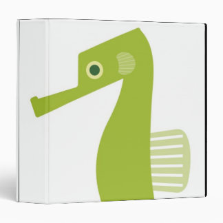 Green Seahorse 3 Ring Binder