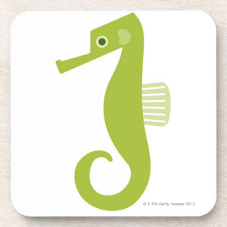 Green Seahorse Drink Coasters