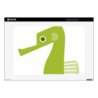 """Green Seahorse Decals For 15"""" Laptops"""