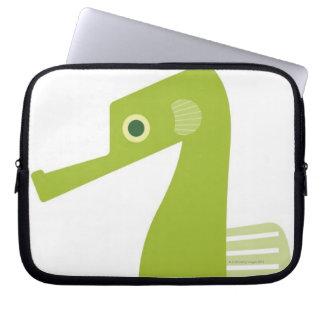 Green Seahorse Laptop Sleeve