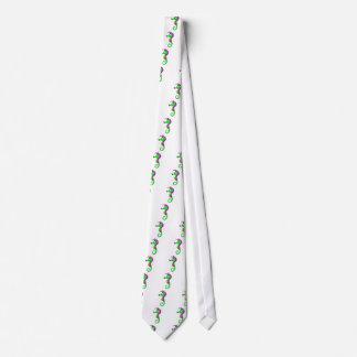 Green Seahorse Neck Tie