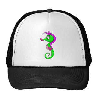 Green Seahorse Trucker Hat