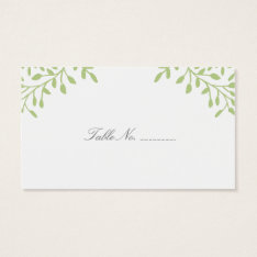 Green Secret Garden Wedding Place Cards at Zazzle