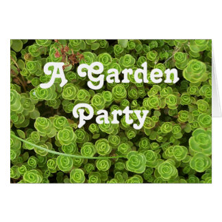Green Sedum Garden Party Invitation
