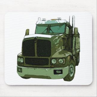 Green Semi Truck Mouse Pad