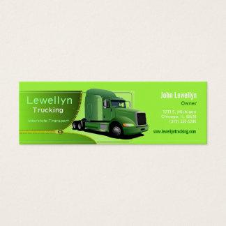 green semi trucking skinny business card
