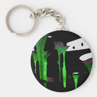 Green Sensation. Basic Round Button Keychain
