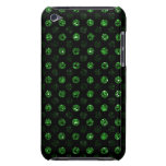 Green Sequin Effect Polka Dot iPod Touch Case dark