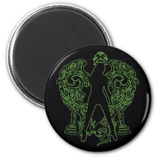 Green Serpent Angel Magnet