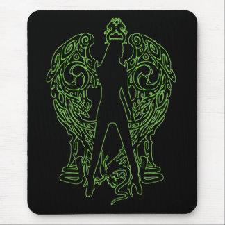 Green Serpent Angel Mousepad