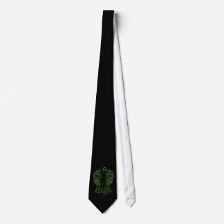 Green Serpent Angel Tie