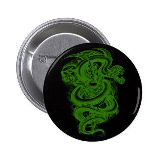 Green Serpent Button