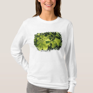 Green Seven Point Leaves with Sun Illumination T-Shirt