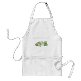 Green sewing kit and threads adult apron