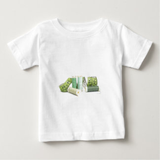 Green sewing kit and threads t shirt