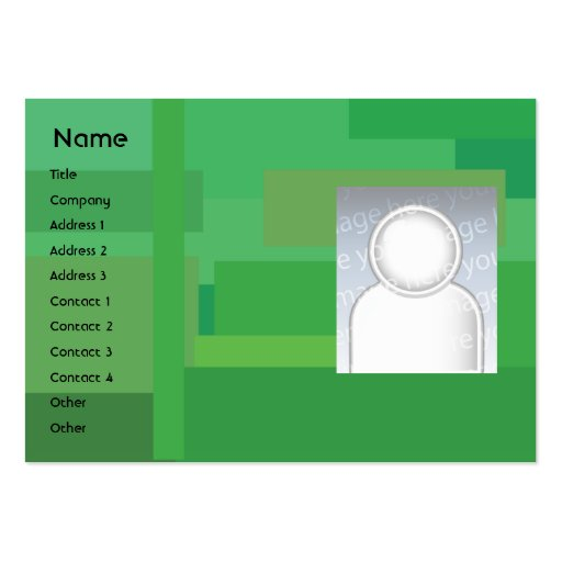 Green Shades - Chubby Large Business Card