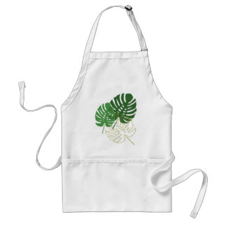 Green Shades of Tropical Plants Apron
