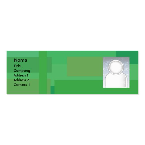 Green Shades - Skinny Double-Sided Mini Business Cards (Pack Of 20)