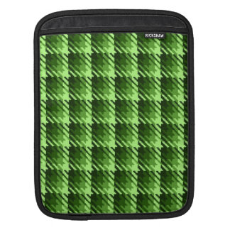 Green Shadow Check Sleeves For iPads