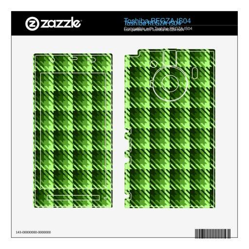 Green Shadow Check Skins For Toshiba REGZA