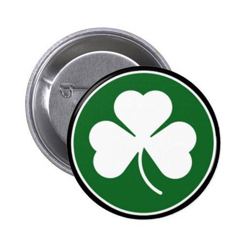 Green Shamrock 2 Inch Round Button
