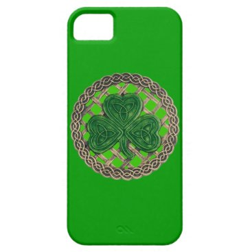 Green Shamrock And Celtic Knots iPhone 5G Case