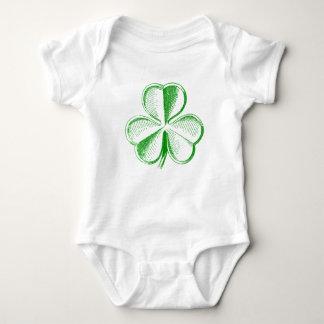 Green Shamrock Baby Bodysuit